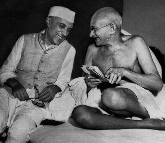 nehru m Gandhi